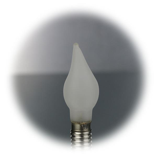 LED Windstoßkerze E10 mit mit dem Maß 16,5x51mm (ØxL) für den Innenbereich