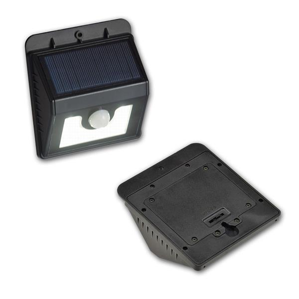 Solar-Wandleuchte mit Bewegungsmelder und 8/22 LEDs in daylight