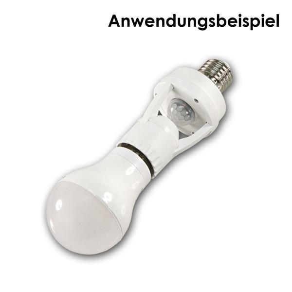 Fassung E27 für Glühlampe und Energiesparlampe bis 60 Watt oder LED-Leuchtmittel