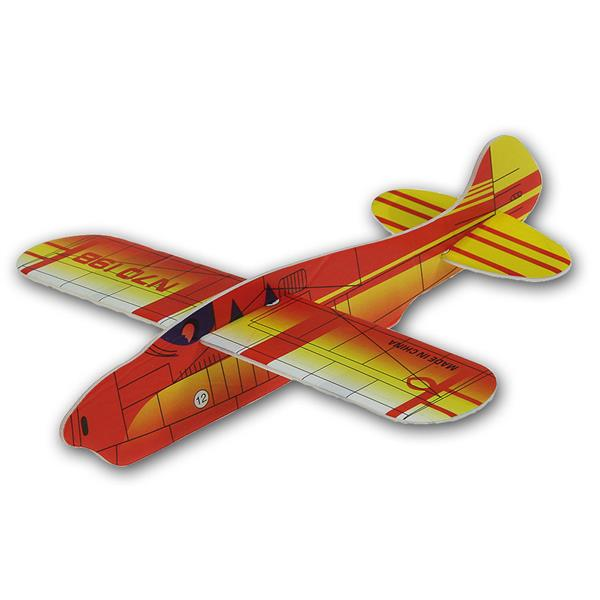 Styropor Flugzeug ca 17cm diverse Farben unsortier