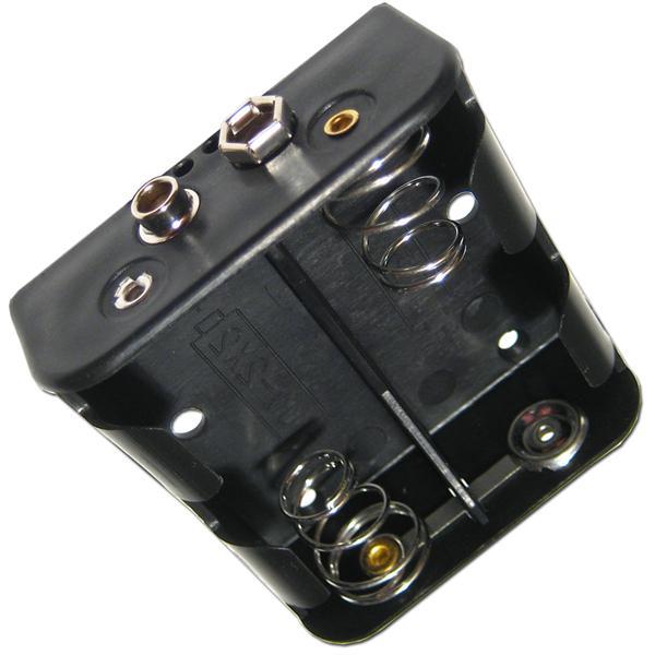 Batteriehalter zum Anschließen von LEDs mit 9V-Anschluss-Clip