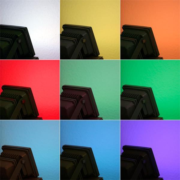 LED Fluter läßt Ihren Außenbereich in RGB-Farben eintauchen