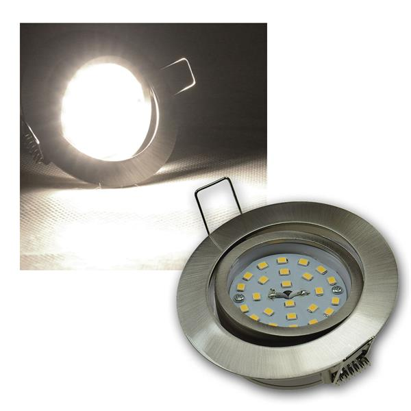 LED Einbaustrahler Flat-32 Edelstahl daylight 490lm