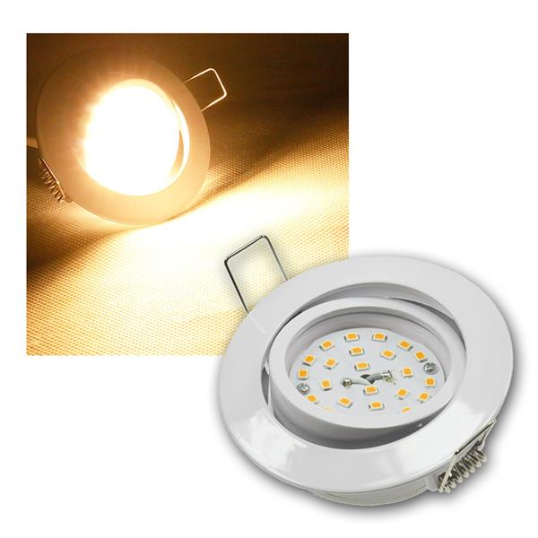 LED Einbaustrahler Flat-32 weiß,  warm weiß 470lm