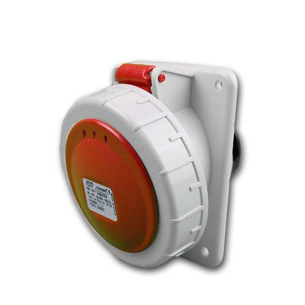 CEE-Einbausteckdose IP67, 32A rot Steckdose