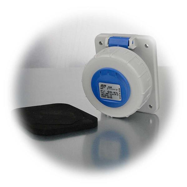Schukosteckdose mit Schutzklasse IP 67, schlagfest