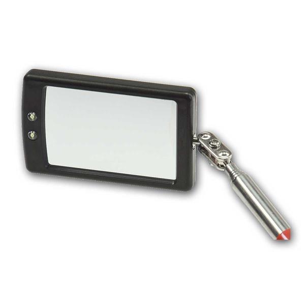 Spiegel klapp- und drehbar über 360° Kugelgelenk