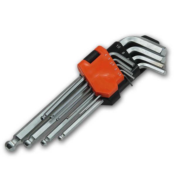 Innensechskant-Schlüssel mit Kugelkopf, 9 Teile