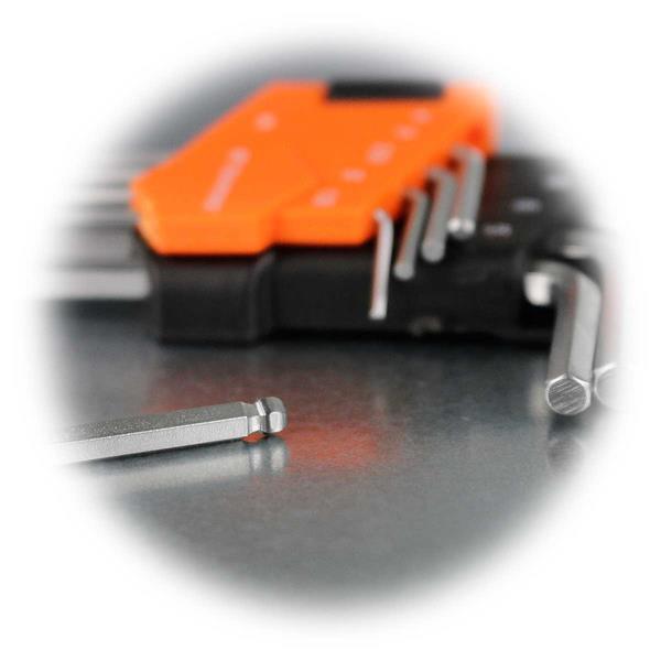 Set mit den am häufigsten verwendeten Sechskantschlüsseln