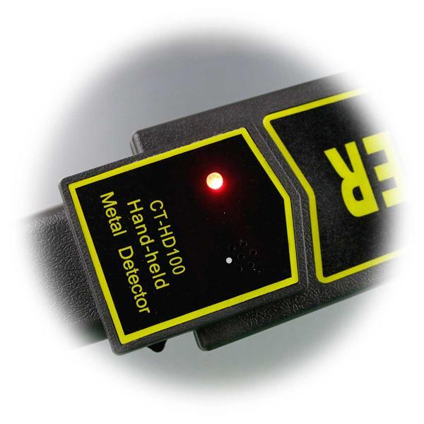 Alarmanzeige per Vibration oder Ton, plus Kontroll–LED