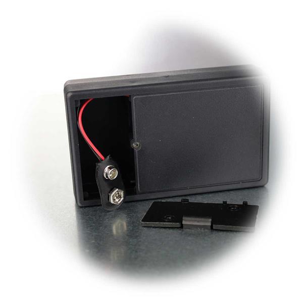 kompakter Wanzenfinder benötigt für Betrieb 9V Blockbatterie