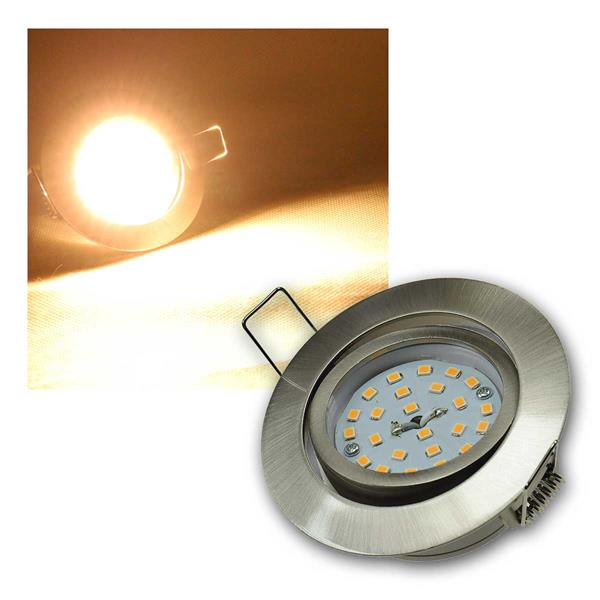 Einbaustrahler Flat-32dim Edelstahl LED warm 420lm