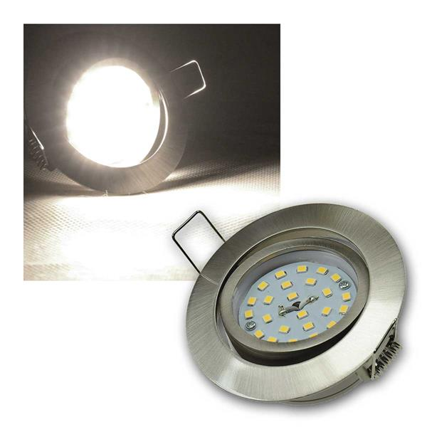 Einbaustrahler Flat-32dim Edelstahl LED dayl 440lm