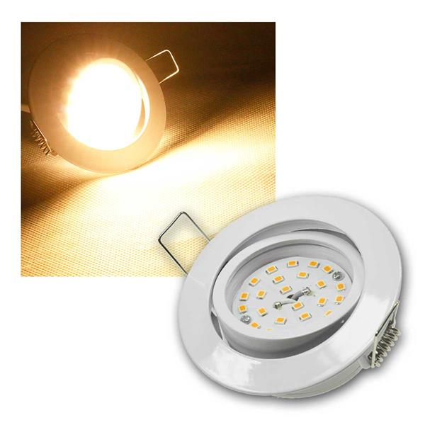Einbaustrahler Flat-32dim Weiß, LED warmweiß 420lm