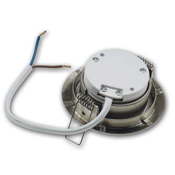 LED Spot flach mit nur 3W Verbrauch für direkten Anschluss an 230V
