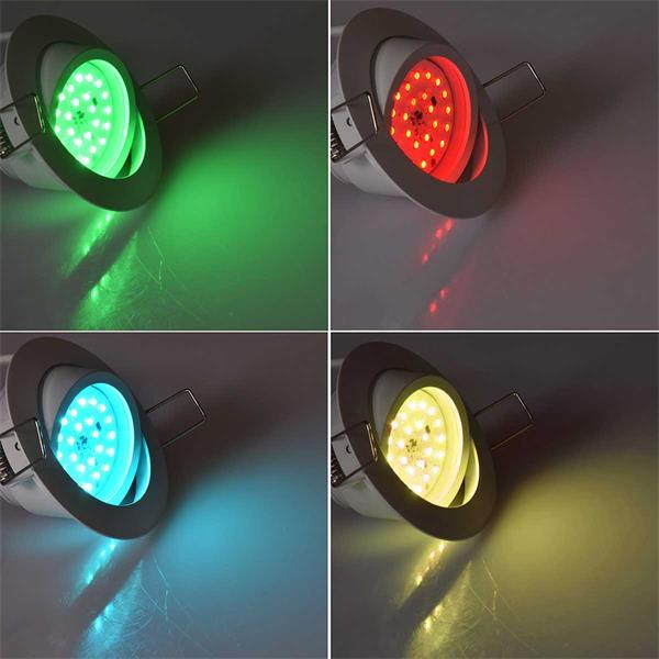 LED Downlight in top modischer Optik durch weißes Gehäuse