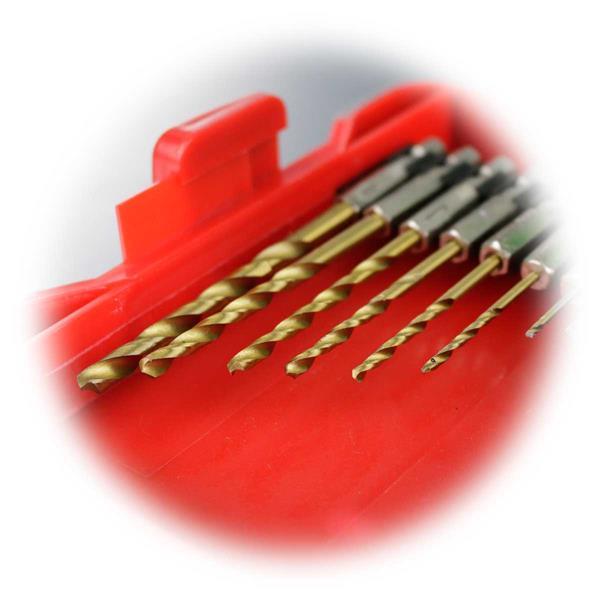 Set mit HSS-Bohrer: Ø 1,5/2/2,5/3/3,5/4/5mm