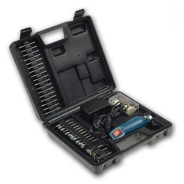 Mini-Bohrmaschine Drill-Power V2 12V=, 63 Teile