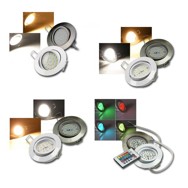 LED-Einbauleuchte Flat-26/32/RGB/dimmbar