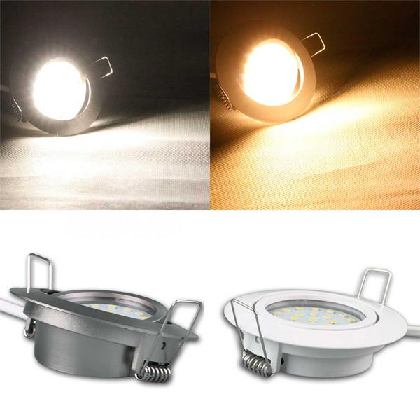 Flache LED-einbaustrahler in warmweiß, daylight oder RGB