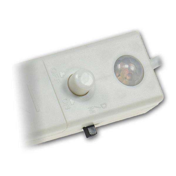 LED Streifen mit Schalter für Modi An, Automatik, Aus