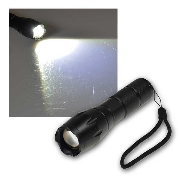 LED Taschenlampe 10W, 350lm, Zoomfunktion