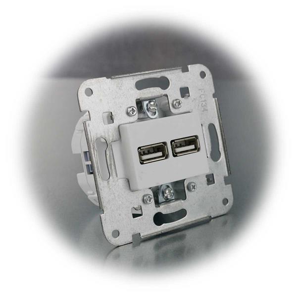 USB Steckdose für Unterputzmontage leicht zu installieren