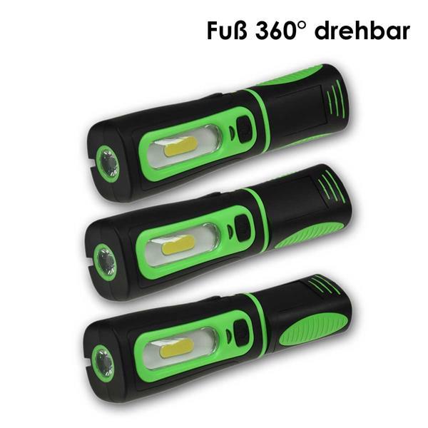 LED Arbeitsleuchte mit drehbarem und schwenkbarem Griff