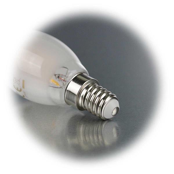 LED Kerzenleuchte Sockel E14 für 230V mit nur ca. 2W Verbrauch