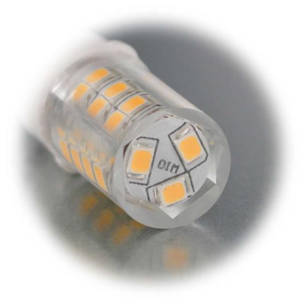 Neutral- oder warmweiß leuchtendes G9 Leuchtmittel