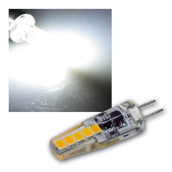 G4 LED Birne Silikon neutralweiß 200lm 12V/2W 300°