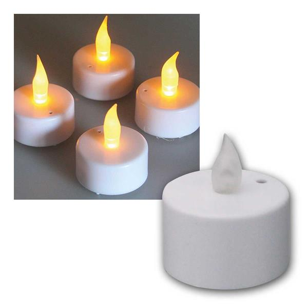 LED Teelichter 4er Set Luftzugsensor zum Auspusten