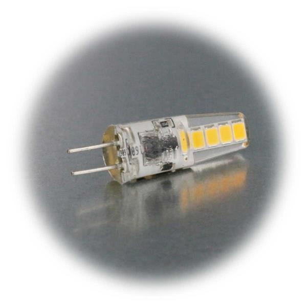 LED-Leuchtmittel G4 mit warm- oder neutralweißen 2W SMD-LEDs