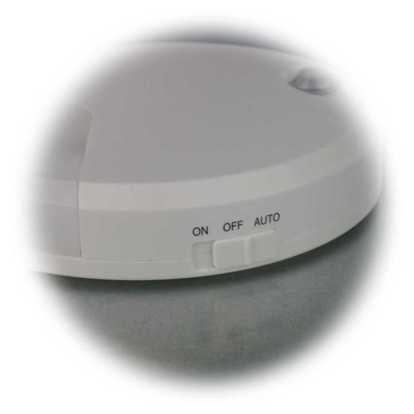 LED Leuchte mit 3 wählbaren Betriebsarten - EIN/AUS/Auto