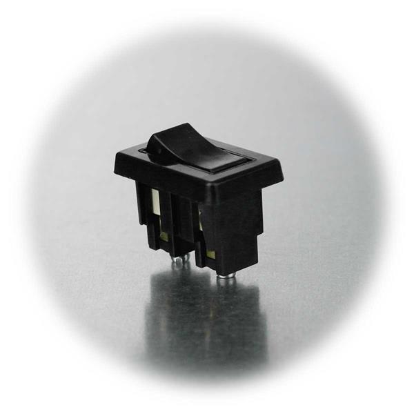 Wippschalter für Snap-In-Montage mit 2 Schaltstellungen