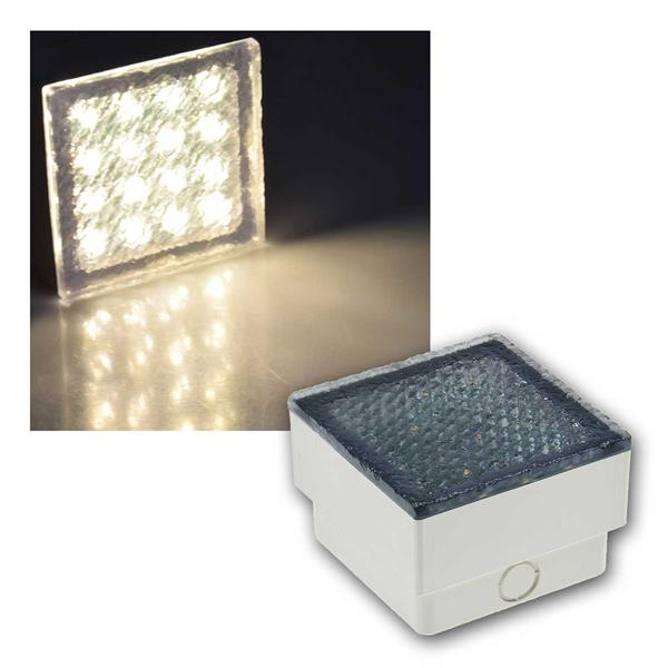LED Pflasterstein BRIKX 10 warmweiß 10x10x7cm