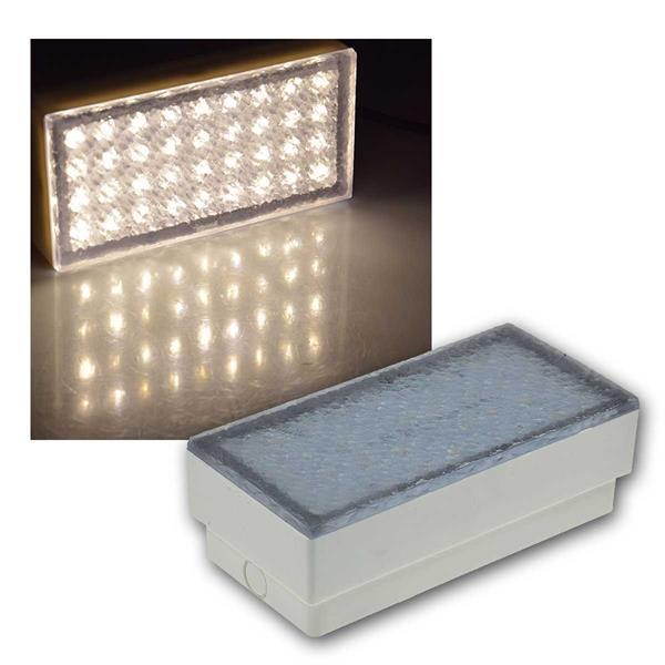 LED Pflasterstein BRIKX 20 warmweiß 20x10x7cm