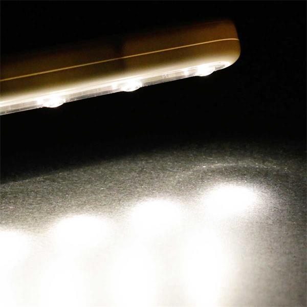 LED Batterieleuchte mit 5 warm weißen LEDs und Touschschalter