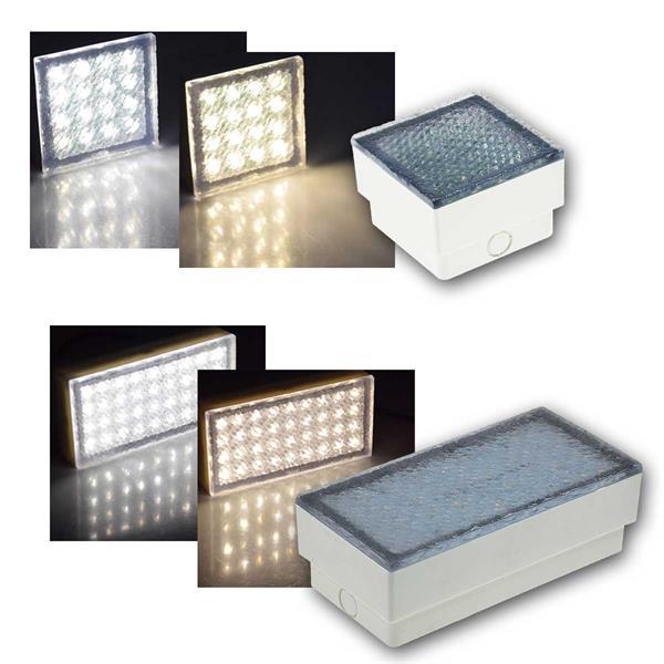 LED Pflasterstein BRIKX warm/neutral 10/20x10x7cm