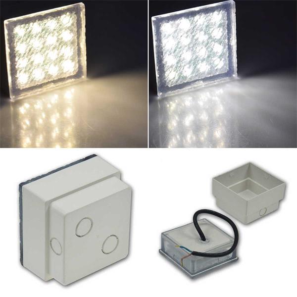 LED Pflasterstein BRIKX in 2 Größen und 2 Leuchtfarben