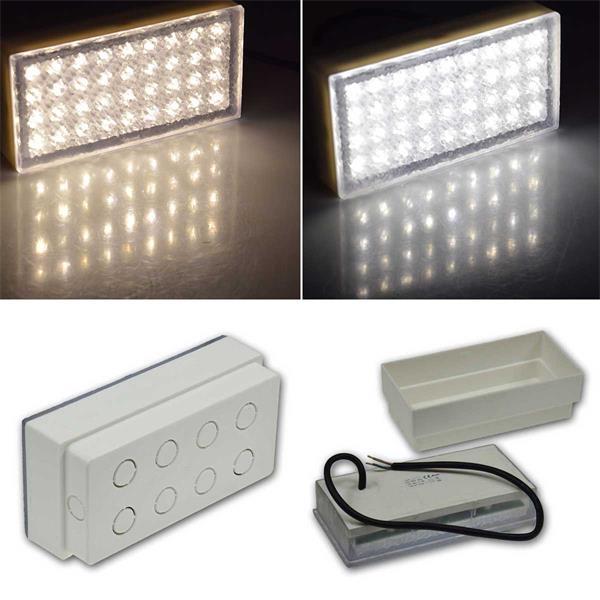 LED Pflasterstein BRIKX in 2 Leuchtfarben und 2 Größen
