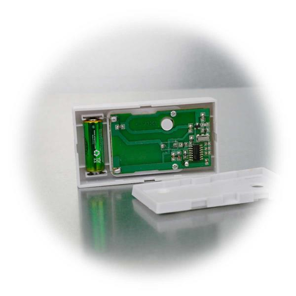 Klingeltaster wird mit 1x A23/12V Batterie betrieben, inklusive