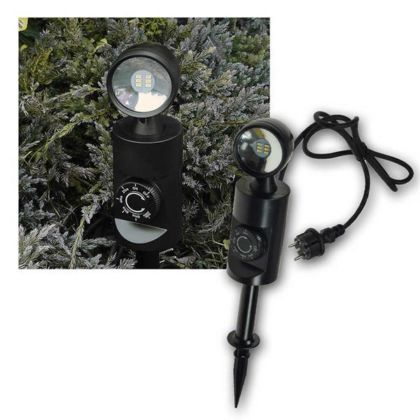 LED Gartenleuchte 3W mit Sensor + Timer 300lm IP44