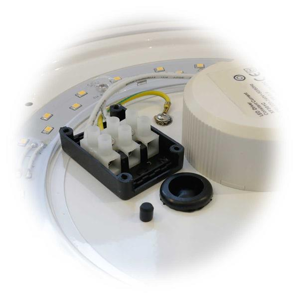 LED Wohnraumllampe mit PIR wird direkt an 230V angeschlossen