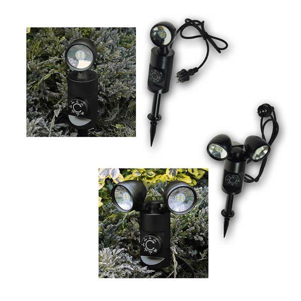 LED Gartenleuchte 3W/6W mit Sensor + Timer