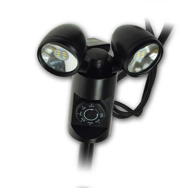 LED-Gartenleuchte mit einem oder zwei Spots