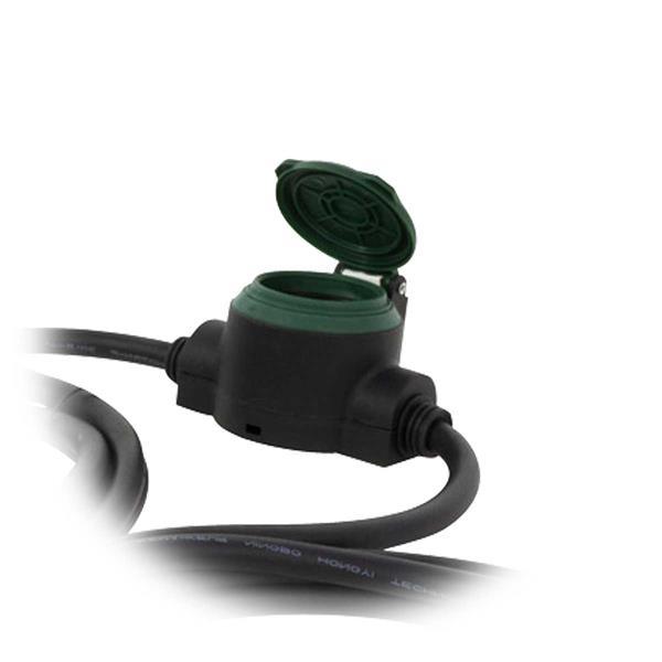 Schutzkontaktsteckdosen mit selbstschließendem Klappdeckel