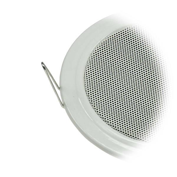 Lautsprecher mit Metallgehäuse und Schutzgitter