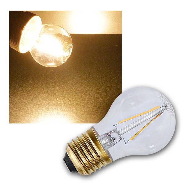 E27 Filament LED Birne EXTRA warmweiß 2100K 120lm