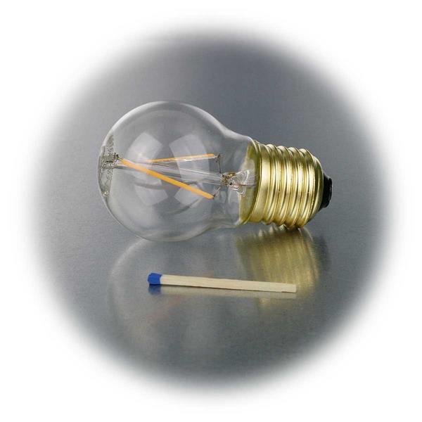 LED Schmucklampe in Glühbirnenform mit Glaskörper